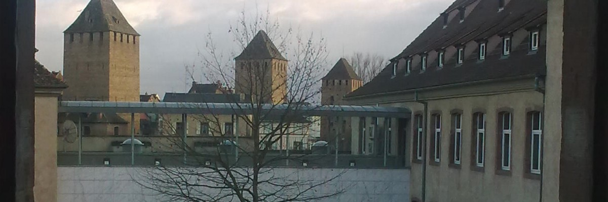 Batiment ENA Strasbourg cour